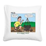 KNOTS Soup Square Canvas Pillow