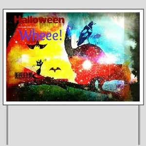 Halloween Fly By1 Yard Sign
