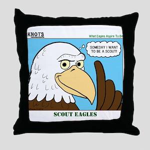 Scout Eagles Throw Pillow
