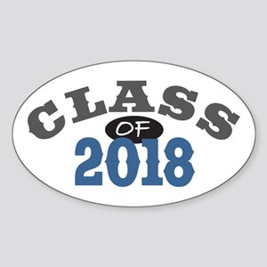 Class of 2018 Sticker (Oval 10 pk)