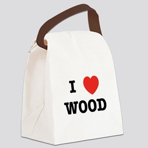 I Heart Wood Canvas Lunch Bag