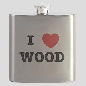 I Heart Wood Flask