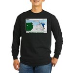 Winter Camping Long Sleeve Dark T-Shirt
