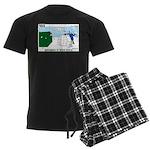 Winter Camping Men's Dark Pajamas