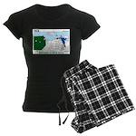 Winter Camping Women's Dark Pajamas