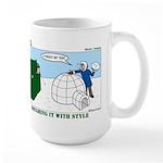 Winter Camping Large Mug