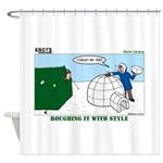 Winter Camping Shower Curtain