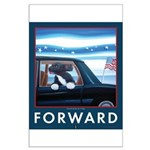 Forward with Bo, the first dog. Large Poster