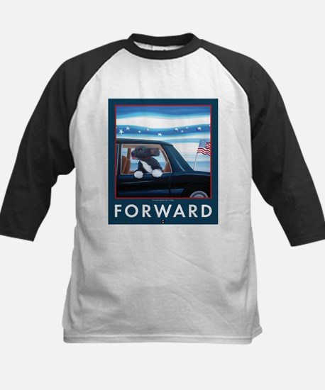 Forward with Bo, the first dog. Kids Baseball Jers