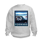 Forward with Bo, the first dog. Kids Sweatshirt