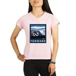 Forward with Bo, the first dog. Performance Dry T-