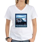 Forward with Bo, the first dog. Women's V-Neck T-S