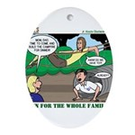 Family Fun Ornament (Oval)