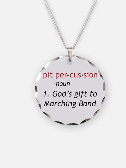 Pit Definition Necklace Circle Charm