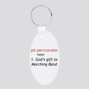 Pit Definition Aluminum Oval Keychain