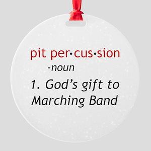 Pit Definition Round Ornament