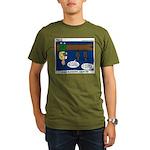 Hanging Around with Bats Organic Men's T-Shirt (da
