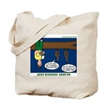 Hanging Around with Bats Tote Bag