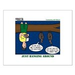 Hanging Around with Bats Small Poster