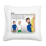 Home Repair Square Canvas Pillow