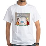 Blue Card Blues White T-Shirt