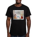 Blue Card Blues Men's Fitted T-Shirt (dark)