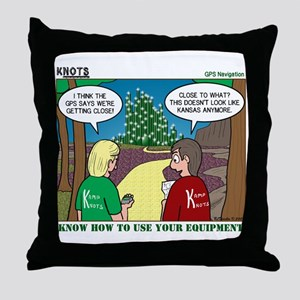 GPS Navigation Throw Pillow