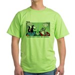 Skunk and Raccoon Snack Green T-Shirt