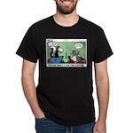 Skunk and Raccoon Snack Dark T-Shirt