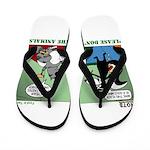 Skunk and Raccoon Snack Flip Flops