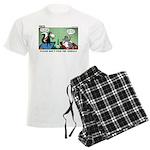 Skunk and Raccoon Snack Men's Light Pajamas