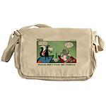 Skunk and Raccoon Snack Messenger Bag