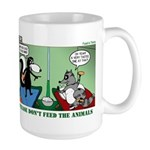 Skunk and Raccoon Snack Large Mug