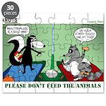 Skunk and Raccoon Snack Puzzle