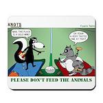 Skunk and Raccoon Snack Mousepad