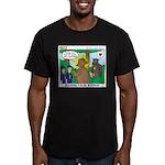 Bear Surprise Men's Fitted T-Shirt (dark)