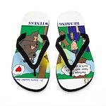 Bear Surprise Flip Flops