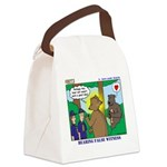 Bear Surprise Canvas Lunch Bag
