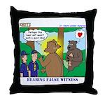 Bear Surprise Throw Pillow