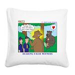 Bear Surprise Square Canvas Pillow