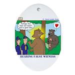 Bear Surprise Ornament (Oval)