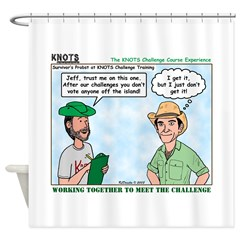 Scout Challenge Course Shower Curtain