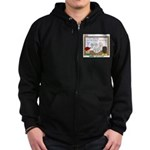 Camp Food Zip Hoodie (dark)