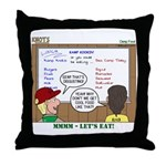Camp Food Throw Pillow