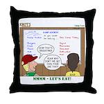 Camp Food Throw Pillow