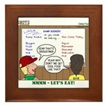 Camp Food Framed Tile