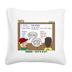 Camp Food Square Canvas Pillow