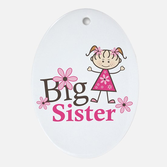 Big Sister Ornament (Oval)