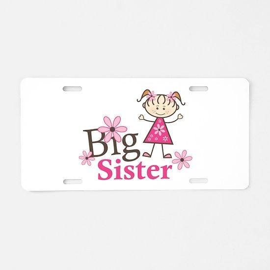 Big Sister Aluminum License Plate