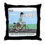 Bike Hike Throw Pillow